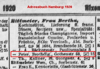 Brothandlung Peter Rittmeier in der Gothenstr. 53